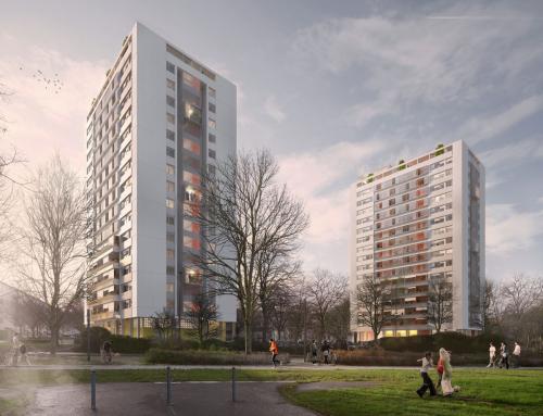 Concours gagné  Réhabilitation des 180 logements des tours 10 et 12 du quartier de Maurepas à Rennes