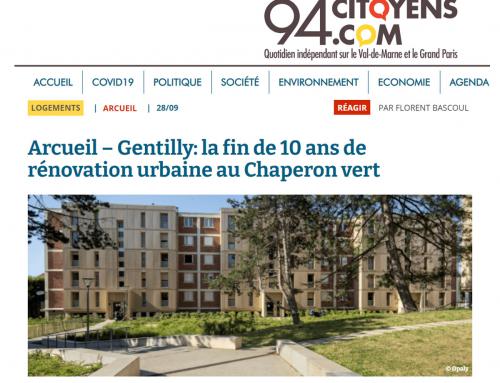 94 Citoyens  Arcueil – Gentilly : la fin de 10 ans de rénovation urbaine au Chaperon vert
